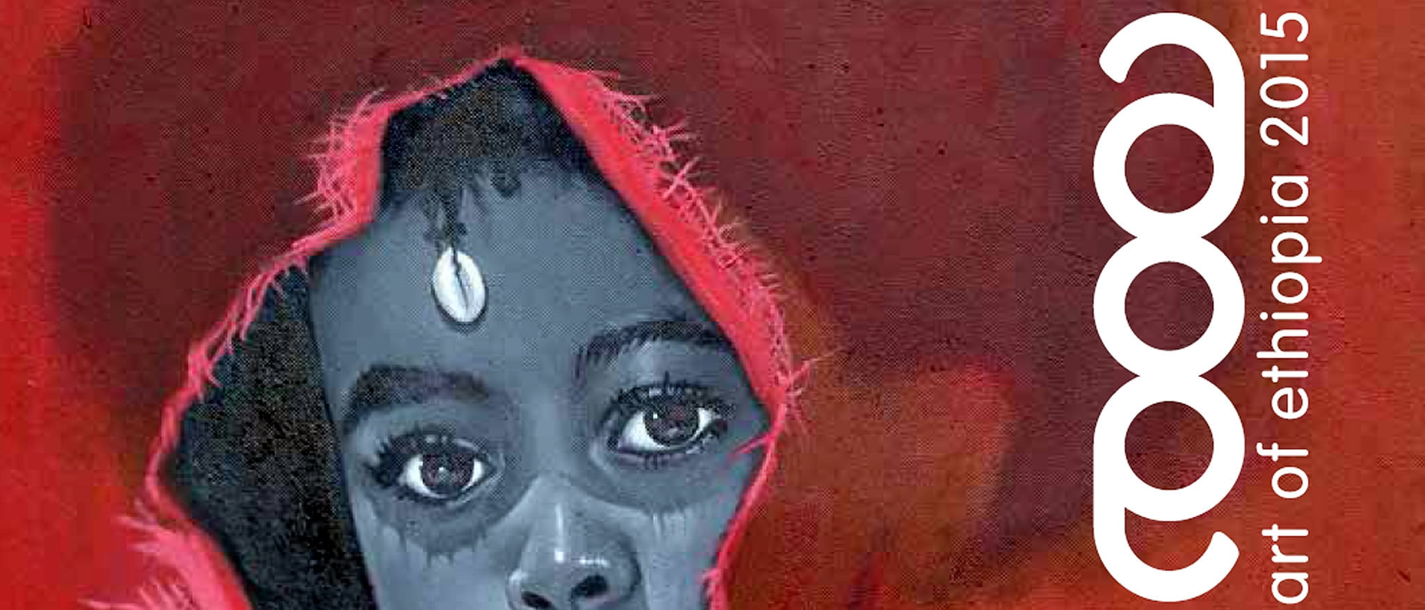 Ethiopian Art Show Catalogue cover with a artist's portrayal of a young girl