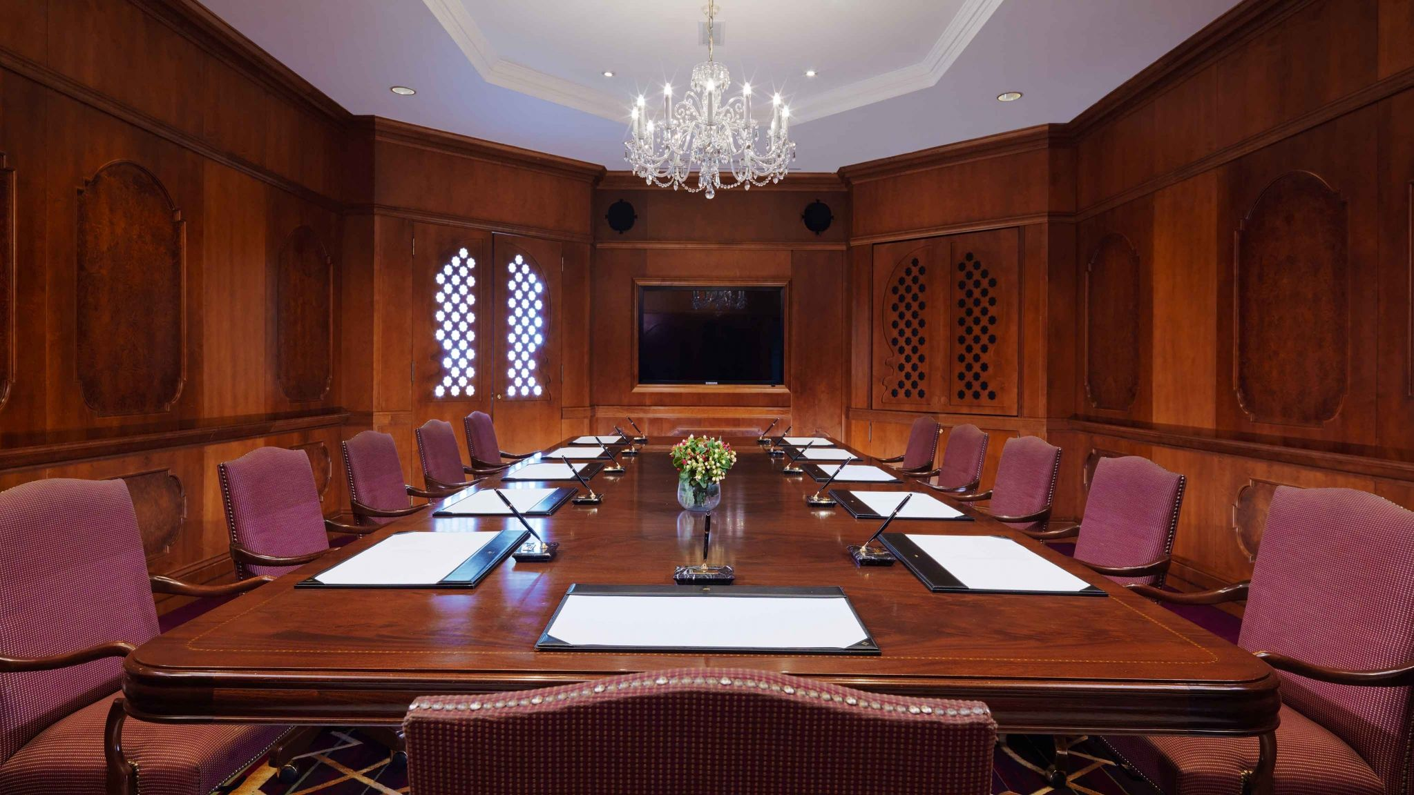 Sheraton Addis Conference room set and ready for a big meeting